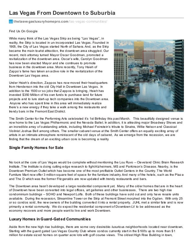 Downtown Las Vegas and Beyond