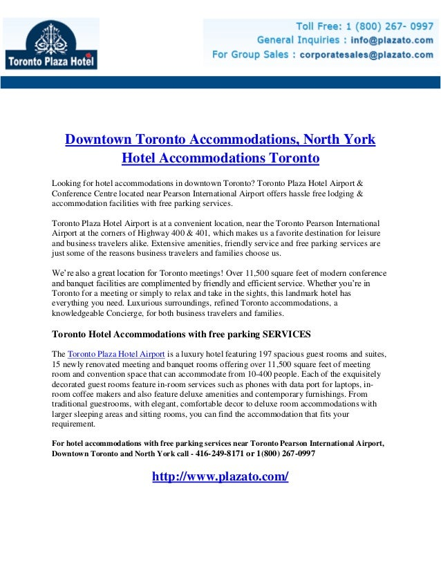 Downtown Toronto Accommodations, North York Hotel Accommodations Toronto - Toronto Plaza Hotel