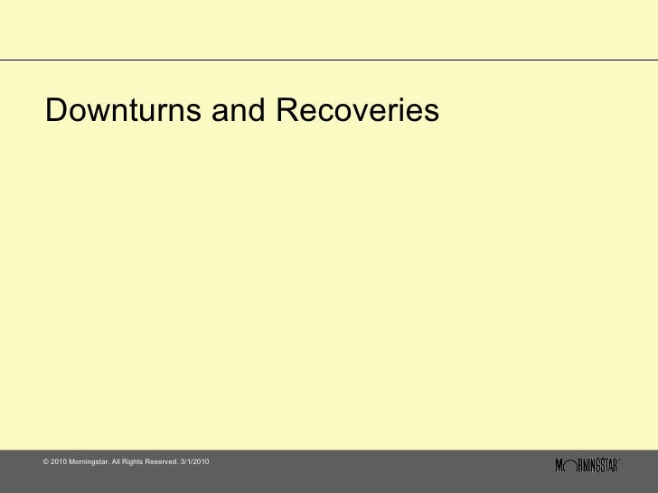Downturns & Recoveries