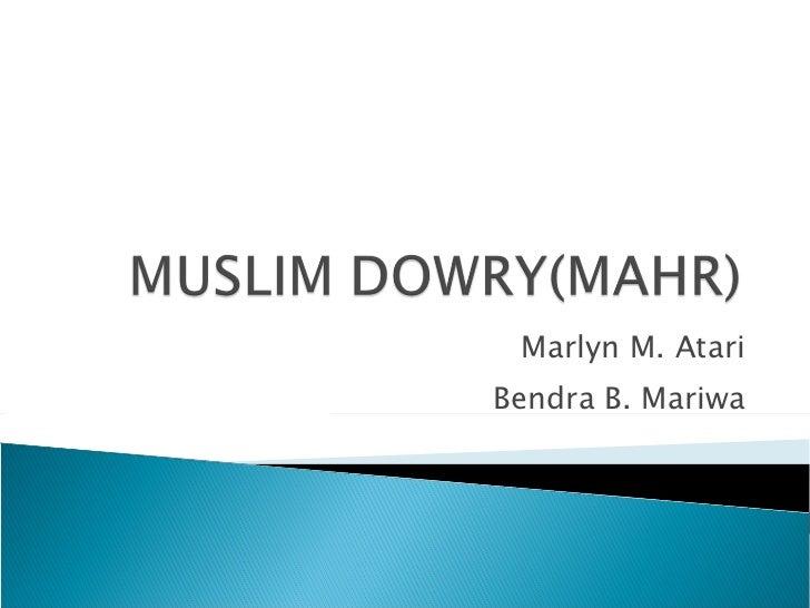 Marlyn M. Atari Bendra B. Mariwa