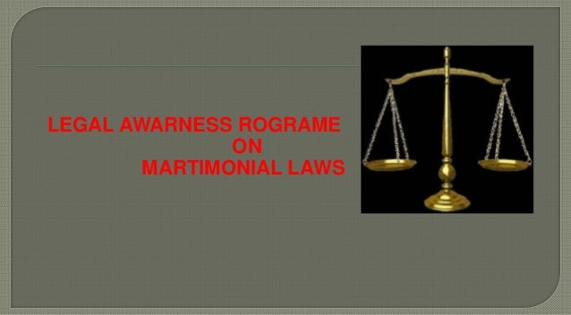 LEGAL AWARNESS ROGRAME ON MARTIMONIAL LAWS