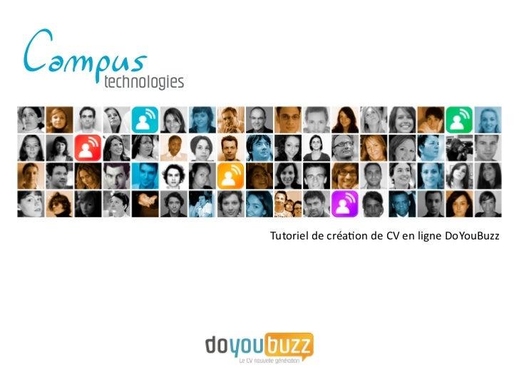 technologies               Tutoriel de création de CV en ligne DoYouBuzz