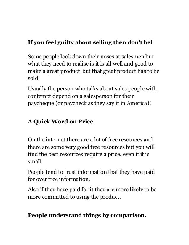 Do You Feel Guilty About Selling?