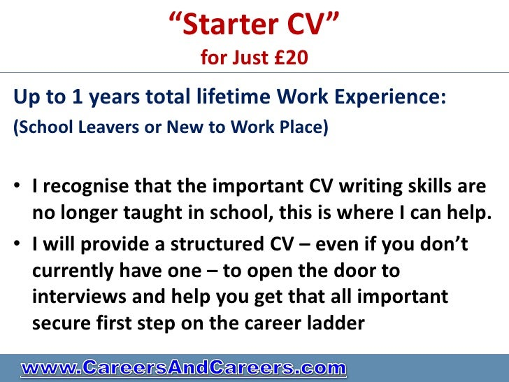 personal statement for cv school leaver