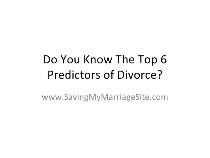 Do you know the top 6 predictors of