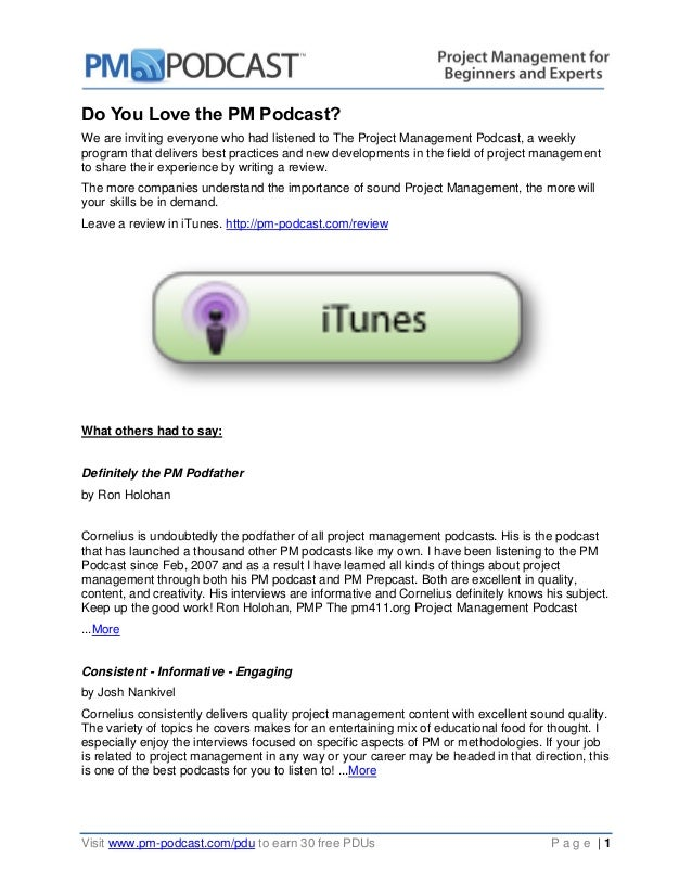 Do You Love the PM Podcast?