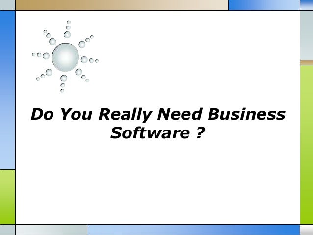 Do You Really Need Business Software ?
