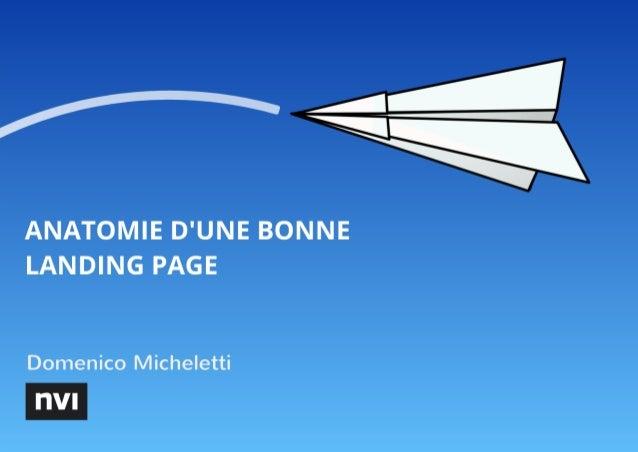 Anatomie d'une bonne landing page