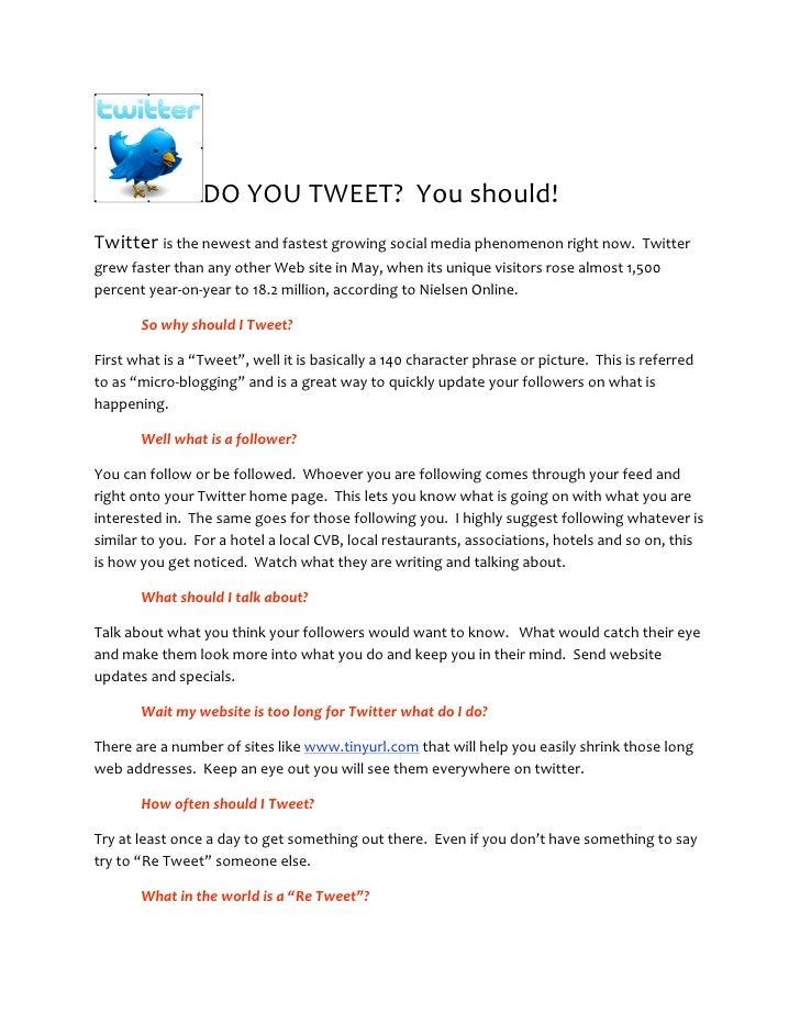 DOYOUTWEET?Youshould! Twitteristhenewestandfastestgrowingsocialmediaphenomenonrightnow.Twitter grewfa...