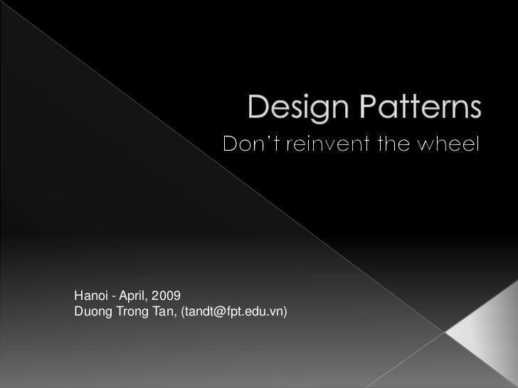 Design patterns in brief