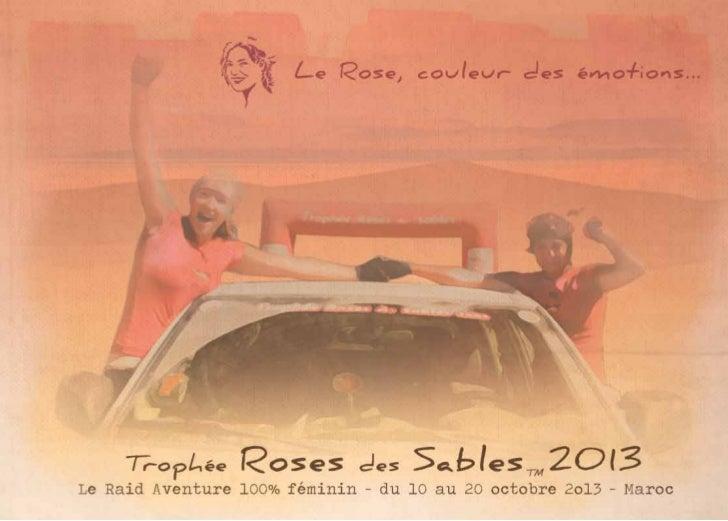 Dossier de Présentation - Trophée Roses des Sables