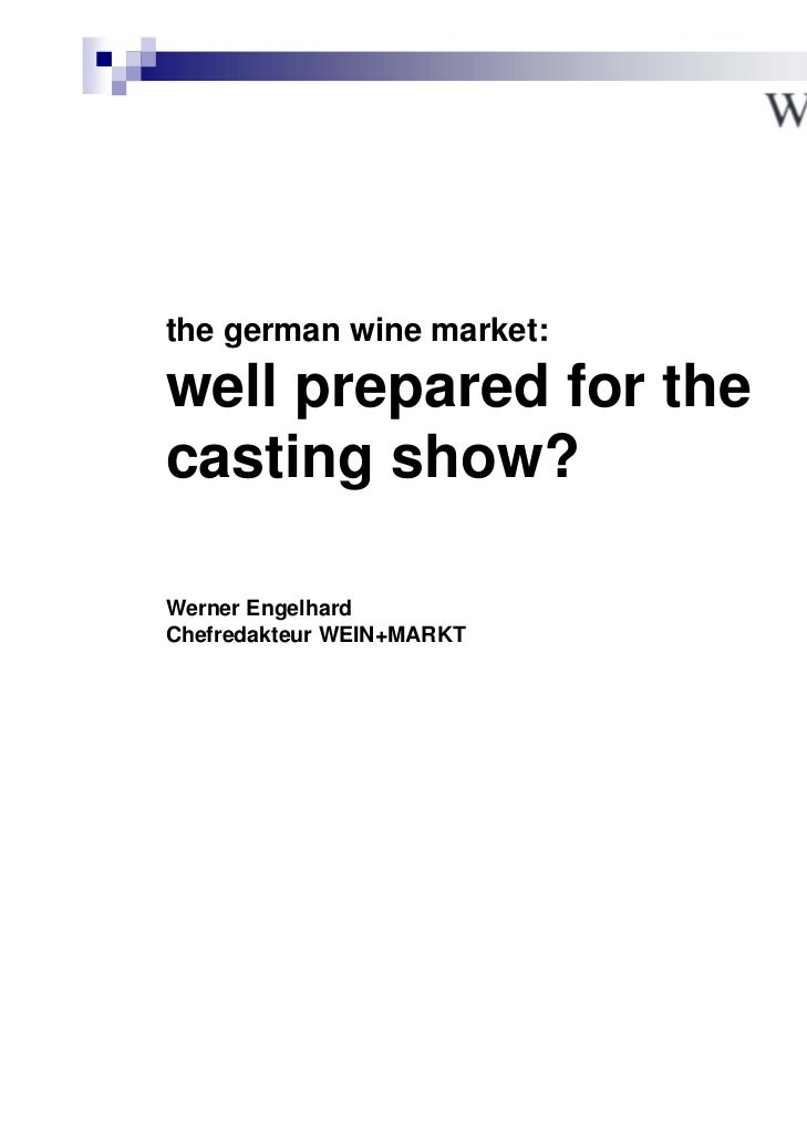 the german wine market: well prepared for the casting show?