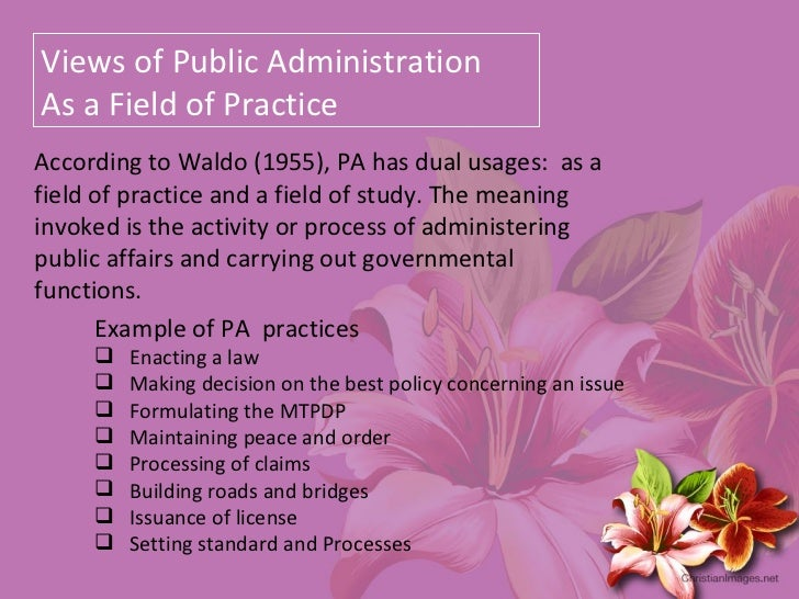 evolution of public administration essay