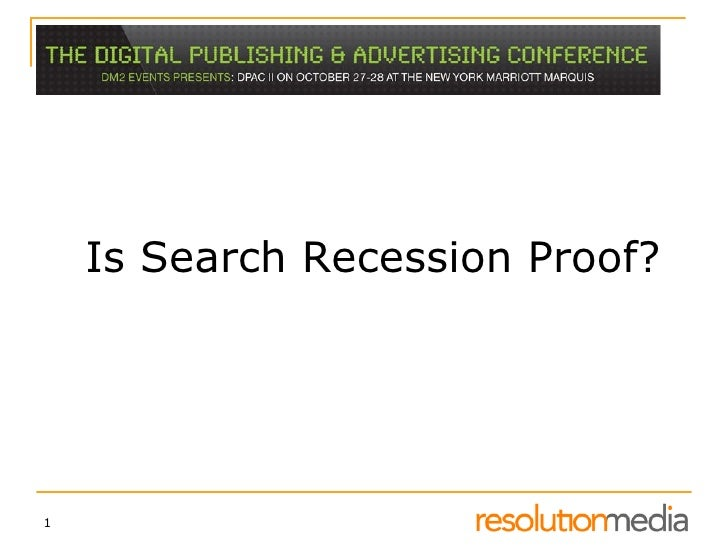 Search In A Recession - DPAC