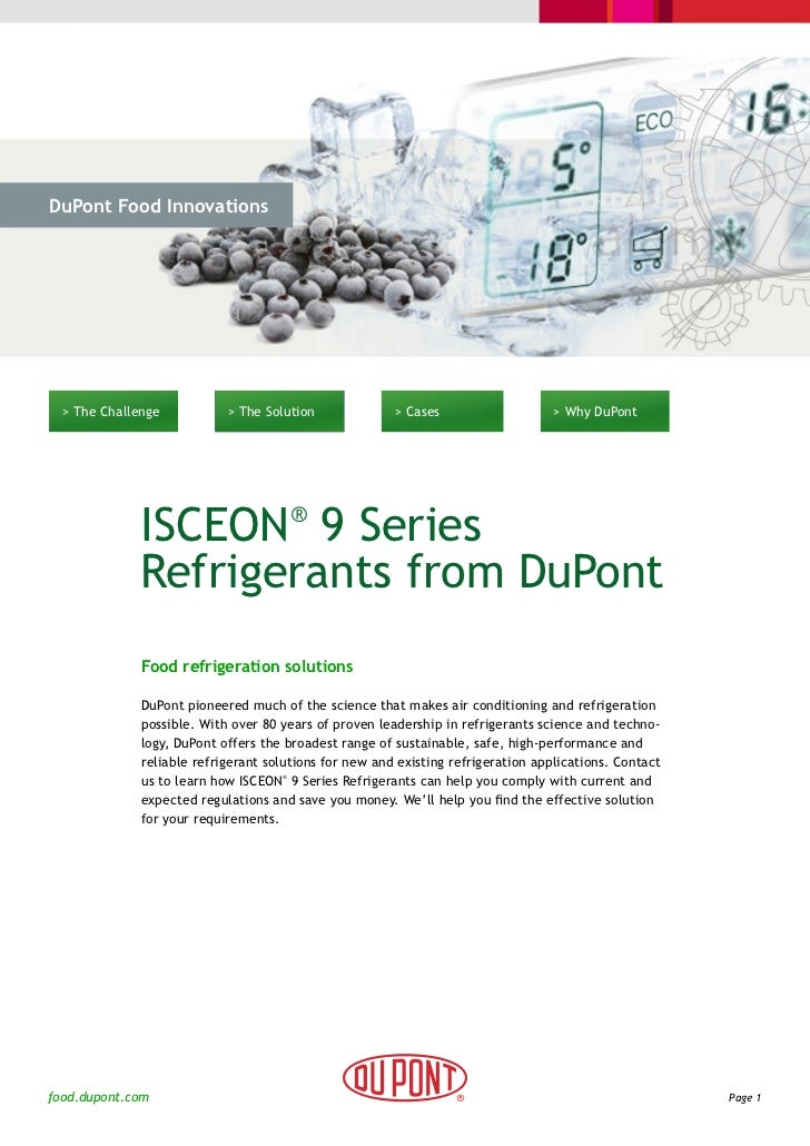 DuPont Food Innovations  > The Challenge           > The Solution              > Cases                    > Why DuPont    ...