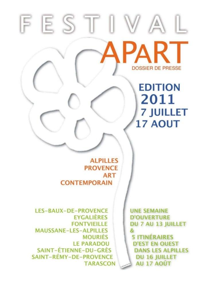 Dossier Presse Festival AP'ART 2011