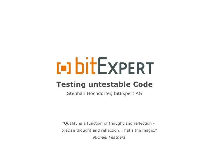 Testing untestable code - DPC10