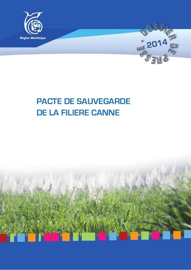 PACTE DE SAUVEGARDE DE LA FILIERE CANNE