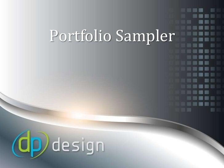 Dp Design portfolio samples 2012