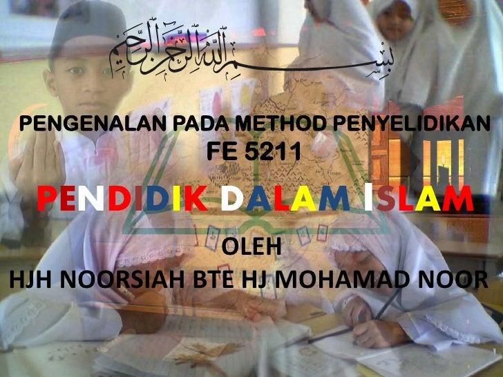 PENDIDIK DALAM ISLAM