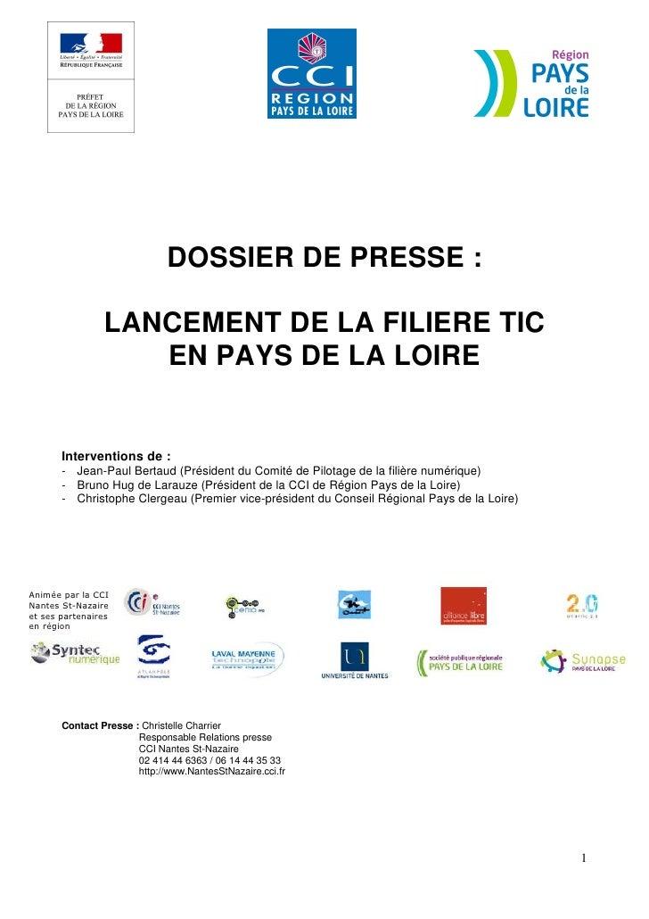 Un nom et une identité visuelle pour la filière TIC des Pays dela Loire                                                   ...