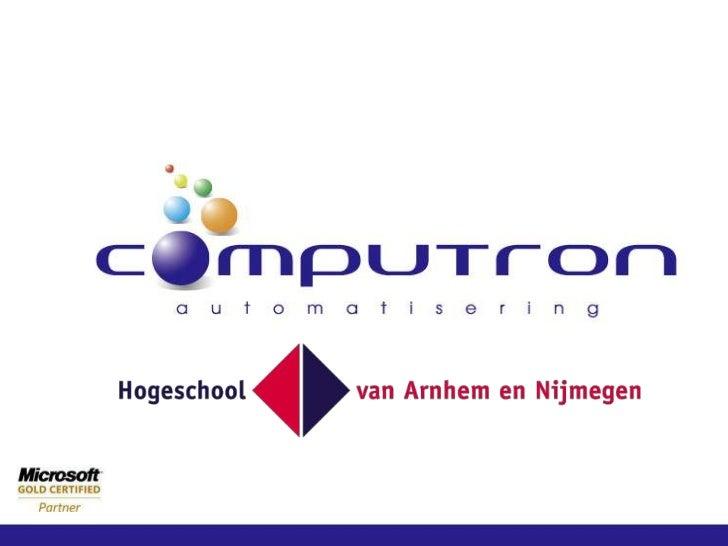 Presentatie HAN-DPF voor Hotelschool Den Haag, 16-3-2012