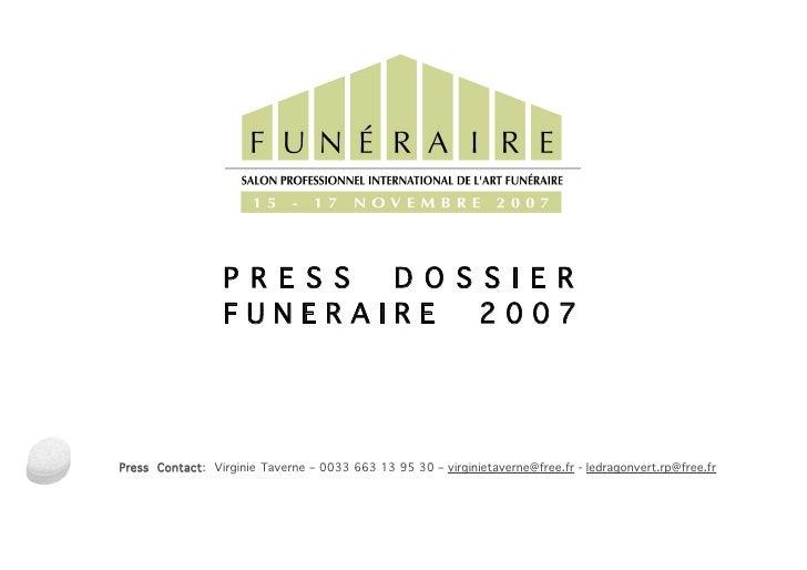 PRESS DOSSIER FUNERAIRE 2007
