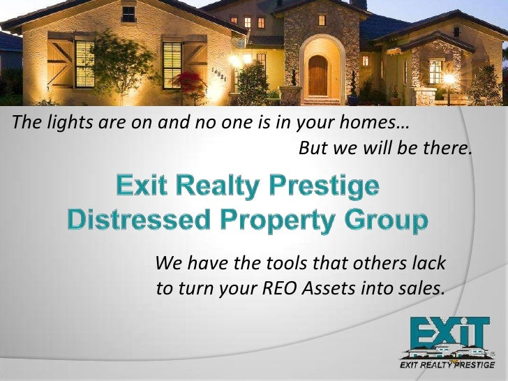 The lights are on and no one is in your homes…<br />					       But we will be there.<br />Exit Realty Prestige <br />Dist...