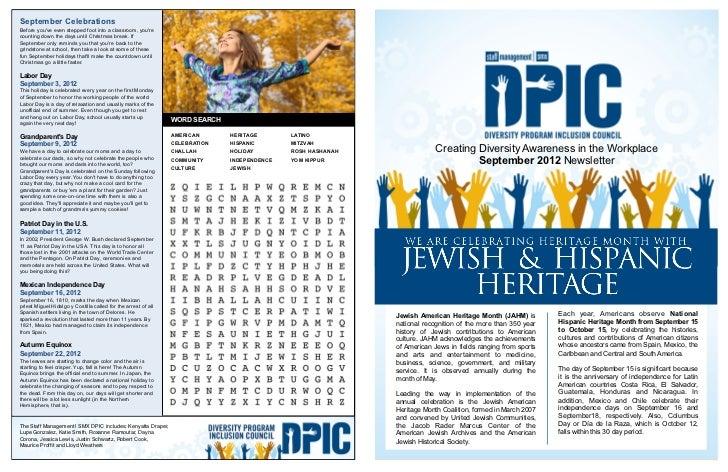 Heritage Month with the Jewish and Hispanic Heritage