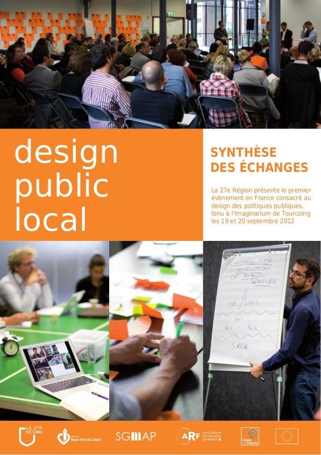 design   SYNTHÈSE         DES ÉCHANGESpublic   La 27e Région présente le premier         évènement en France consacré aulo...