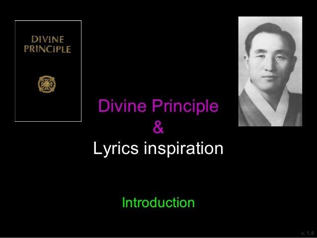 Divine Principle & Lyrics inspiration Introduction v. 1.3