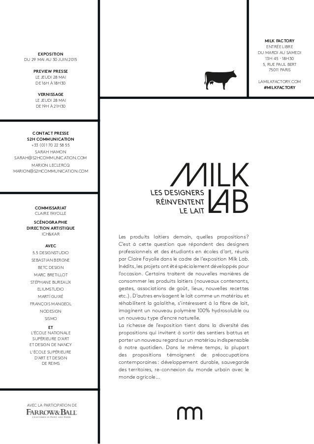 MILK LAB Les produits laitiers demain, quelles propositions? C'est à cette question que répondent des designers professio...