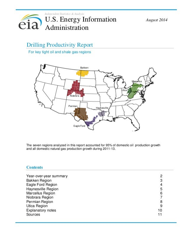 Independent Statistics & Analysis Drilling Productivity Report The seven regions analyzed in this report accounted for 95%...