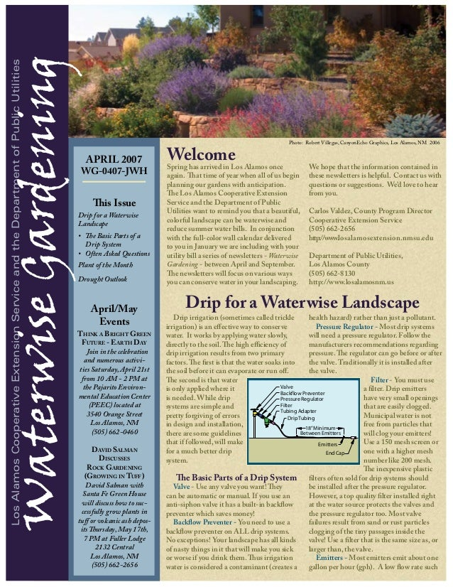 Waterwise Gardening Los Alamos Cooperative Extension Service and the Department of Public Utilities                       ...