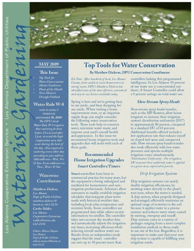 Top Tools for Water Conservation - Waterwise Gardening, Los Alamos