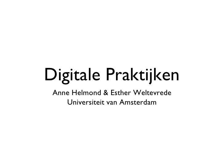 Digitale Praktijken Week 01 2010