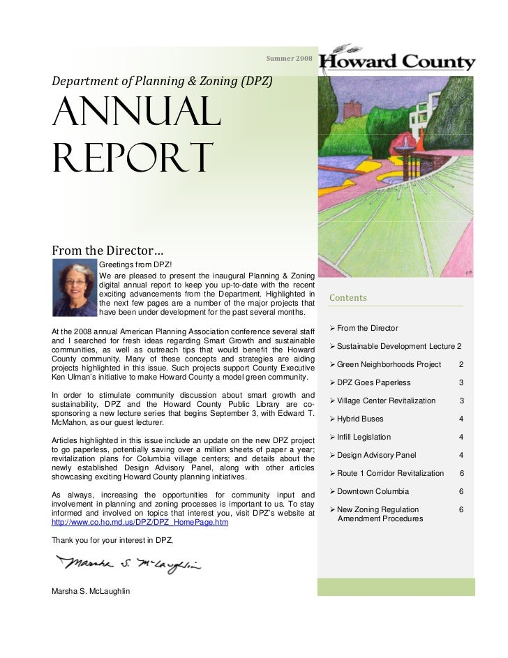 Department of Planning & Zoning 2008 Annual Report