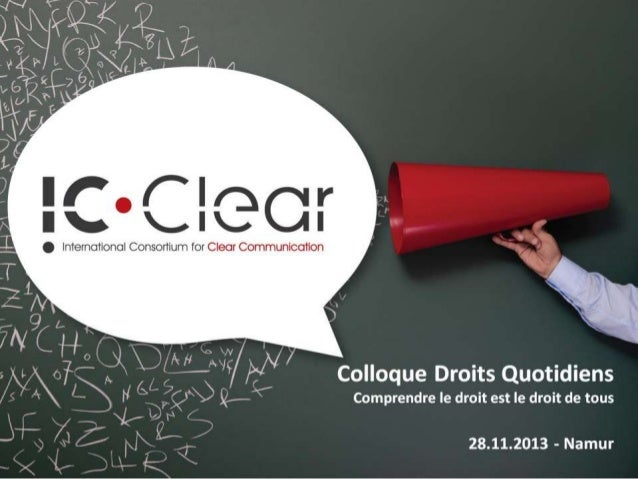 IC Clear au colloque Droits Quotidiens