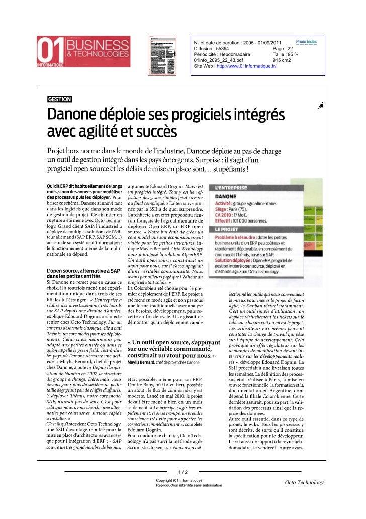 Danone deploys  OpenERP locally