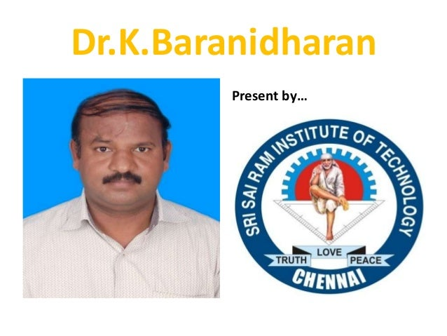 EEFA - SUPPLY - FINAL YEAR CS/IT - SRI SAIRAM INSTITUTE OF TECHNOLOGY - DR,K,BARANIDHARAN