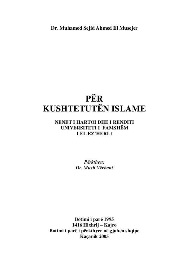 Dr. muhamed sejid ahmed el musejer   për kushtetutën islame