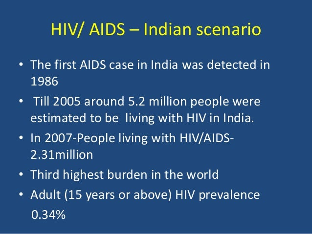 Hiv/aids in india sources?
