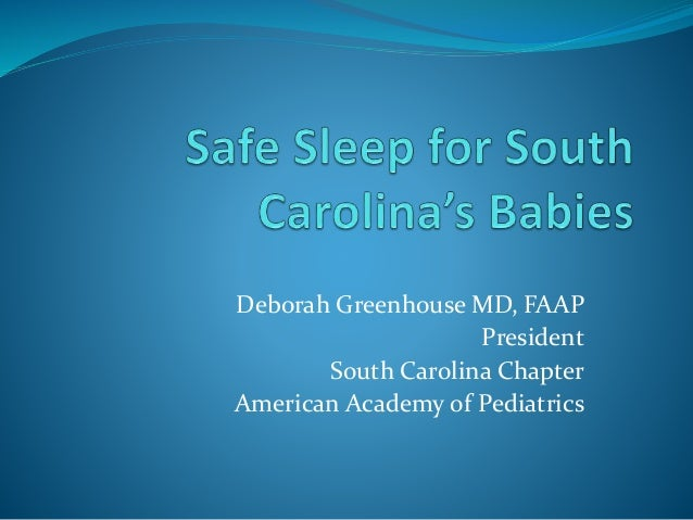 Deborah Greenhouse MD, FAAP President South Carolina Chapter American Academy of Pediatrics