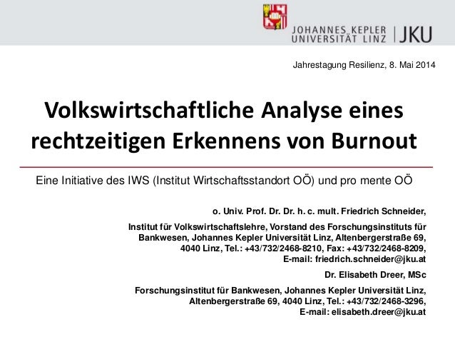o. Univ. Prof. Dr. Dr. h. c. mult. Friedrich Schneider, Institut für Volkswirtschaftslehre, Vorstand des Forschungsinstitu...