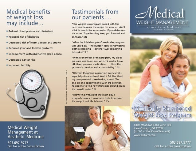 Dr. Darm Weight Loss Brochure 2014
