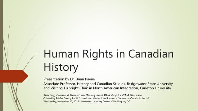 canadian history human rights