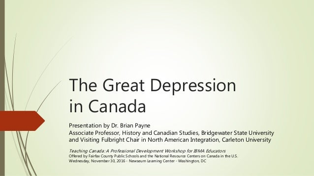 great depression canada 1 The great depression part 1: ref number: 172 type of video: documentary genre: entertainment length: 60 minutes contact by email  the great depression part 7.