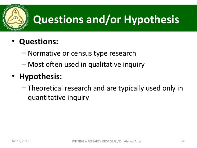 Hypothesis research proposal