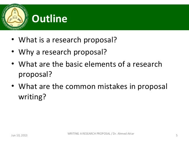 What 5 best proposals on research can you suggest?