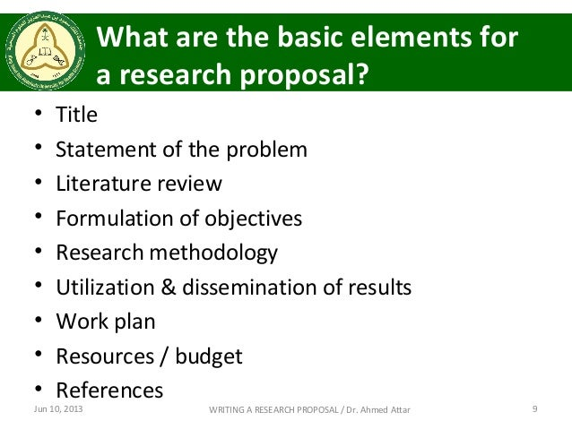 Science Research Proposal